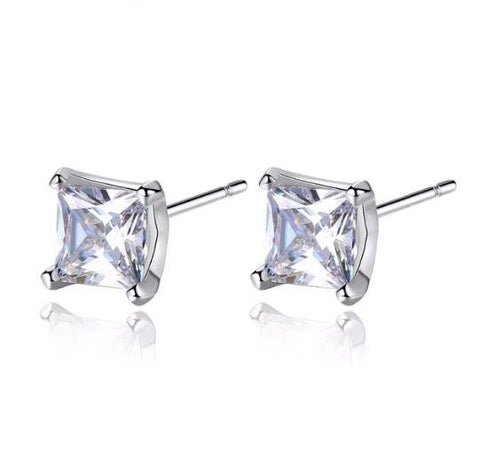 Alicia Cubic Zirconia Stud Earrings-earrings-Starlet Jewellery