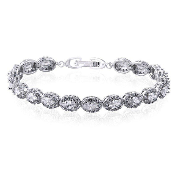 Amalia Simulated Diamond Bracelet-Bracelets-Starlet Jewellery