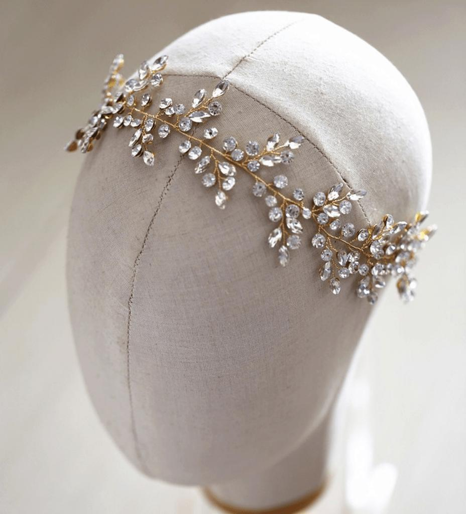 Amalia Wedding Hair vine-Hair vines-Starlet Jewellery