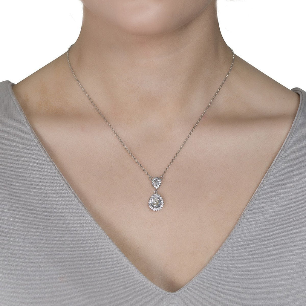 Amalia Simulated Diamond Pendant-Pendants-Starlet Jewellery