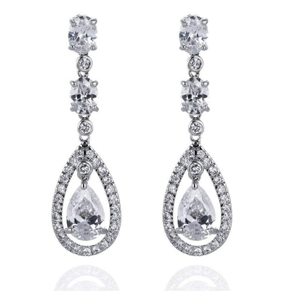 Amelia Simulated Diamond Earrings-Starlet Jewellery