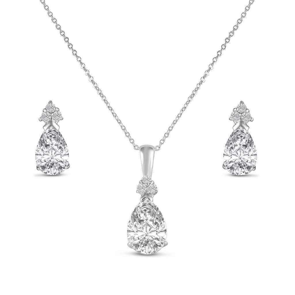 Amelia Diamante Pendant Set - Olivier Laudus Wedding Jewellery