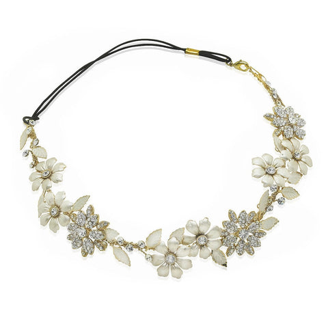Antique Gold Blossom Headband-Hair vines-Starlet Jewellery