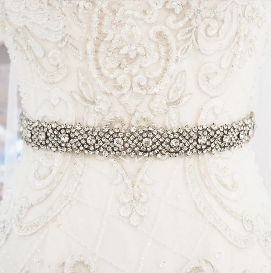 Antoinette Diamante Wedding belt-Starlet Jewellery