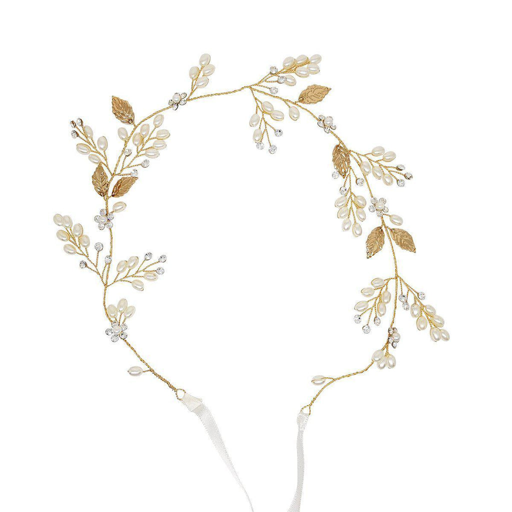 Aphrodite Gold leaf Hair Vine-Hair vines-Starlet Jewellery