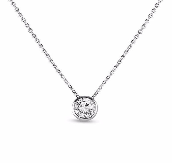 Aspen Simulated Diamond Pendant-Pendants-Starlet Jewellery