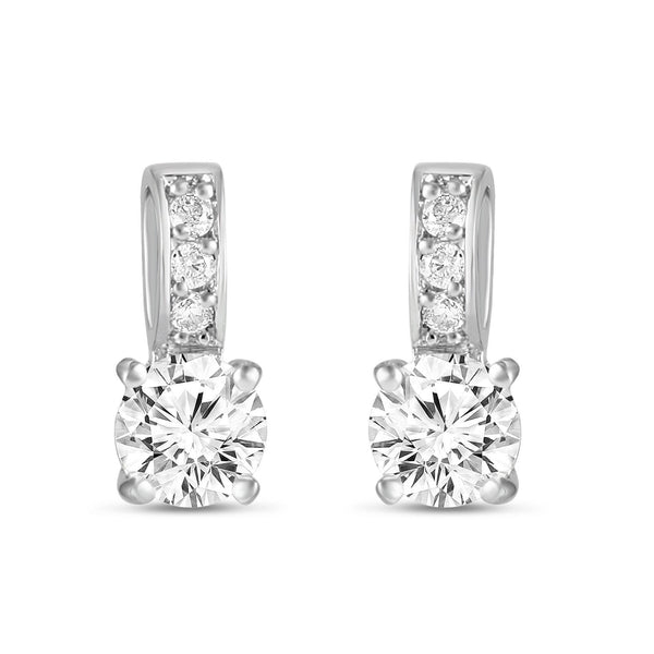 Veronica Simulated Diamond Earrings