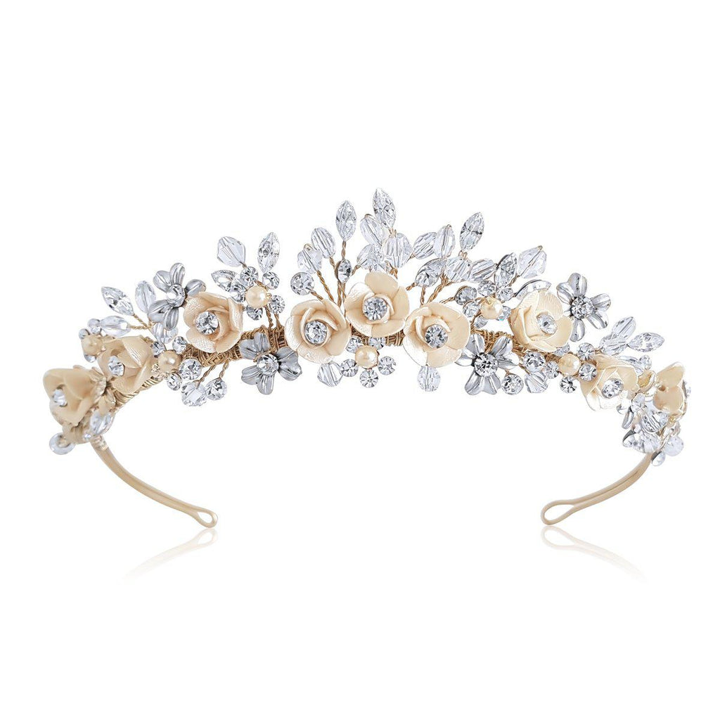 Baccara Antique Gold Framed Tiara