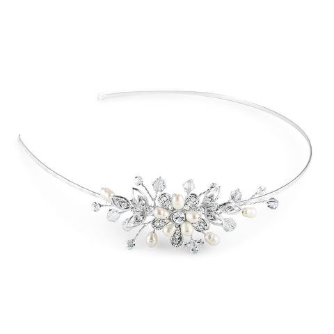 Bouquet Side Tiara-Starlet Jewellery