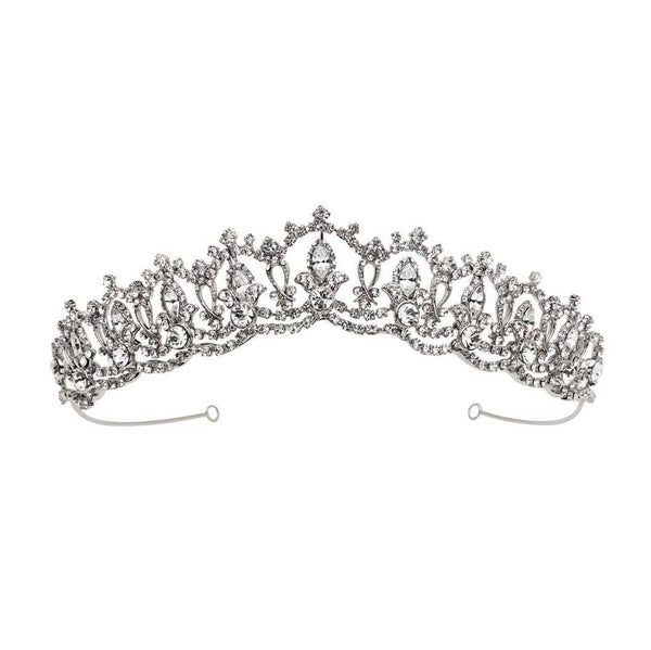 Cambridge Crystal Wedding Tiara - Olivier Laudus Wedding Jewellery