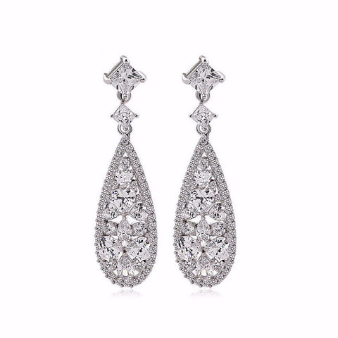 Carlton Cubic Zirconia Bridal Earrings