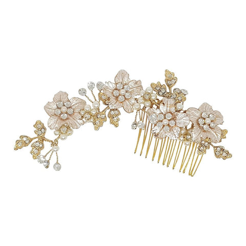Cecilia Gold Hair Comb