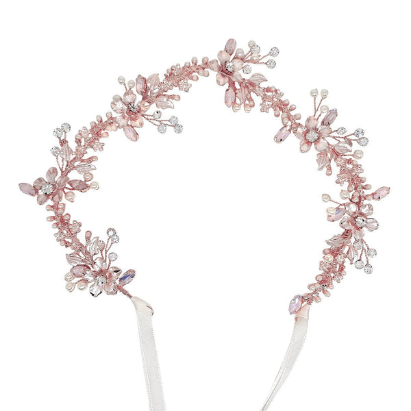 Cecilia Rose Gold Hair Vine-Hair vines-Starlet Jewellery