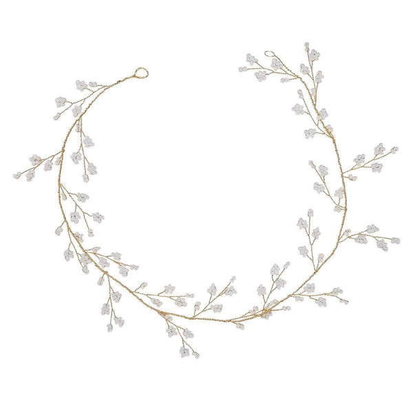 Charlie Pearl Gold Hairvine-Starlet Jewellery