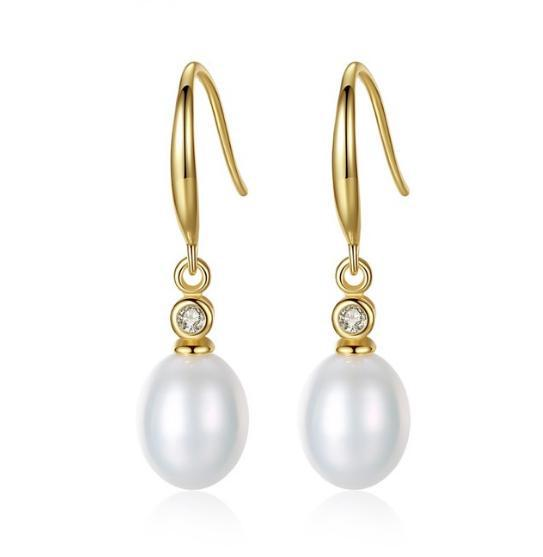 Charlie Gold Plated Freshwater pearl earrings