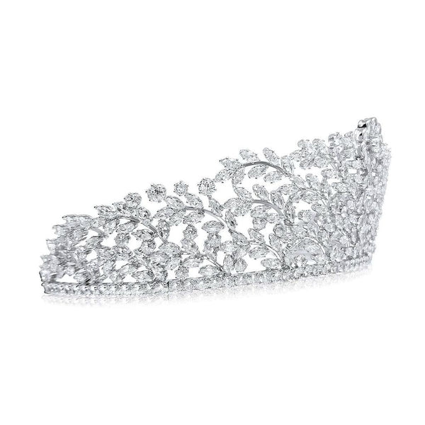 Charlotte Luxury Platinum Plated Tiara