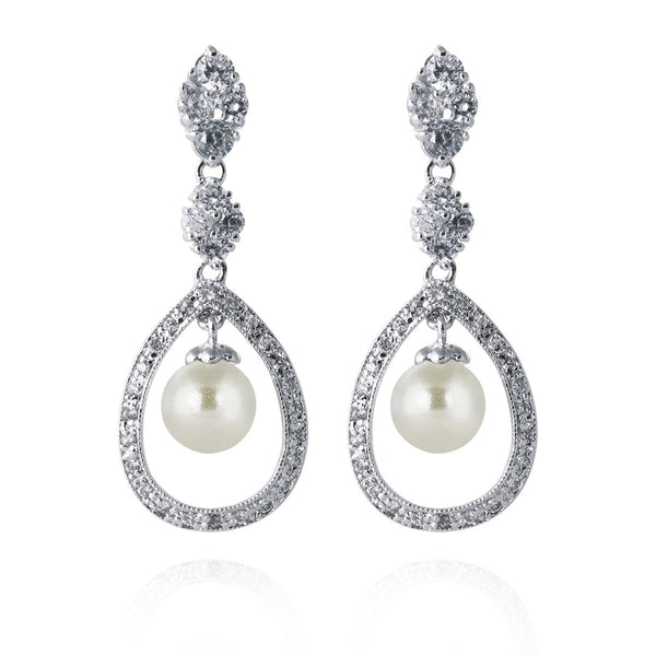 Cinderella Pearl Bridal Earrings (best seller)