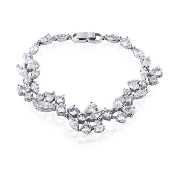 Clara Simulated Diamond Bracelet-Starlet Jewellery
