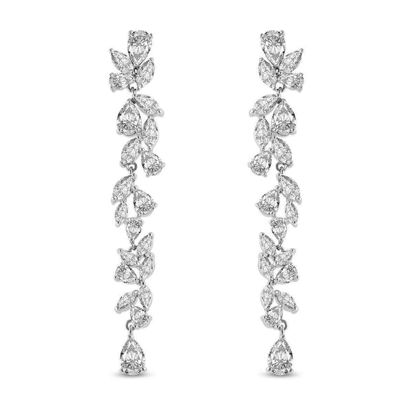 Clara Cubic Zirconia Earrings-Cubic Zirconia Earrings-Starlet Jewellery