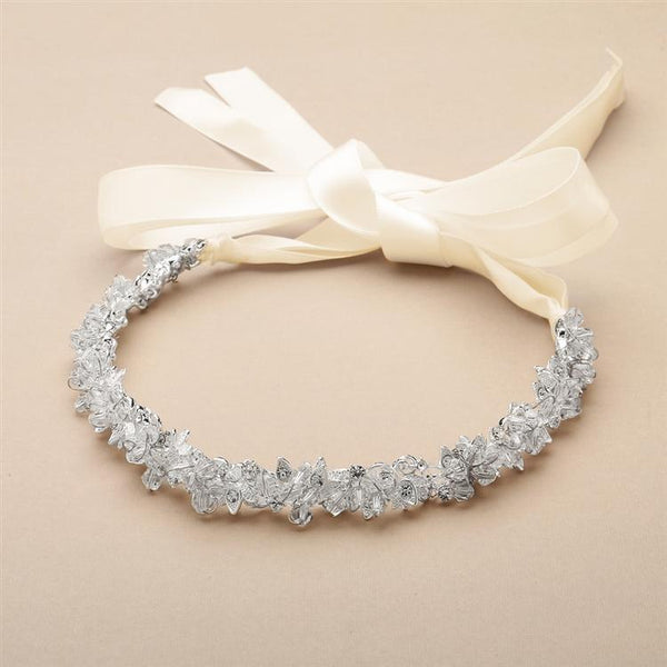 Clarence Flexible Swarovski Headband - Olivier Laudus Wedding Jewellery