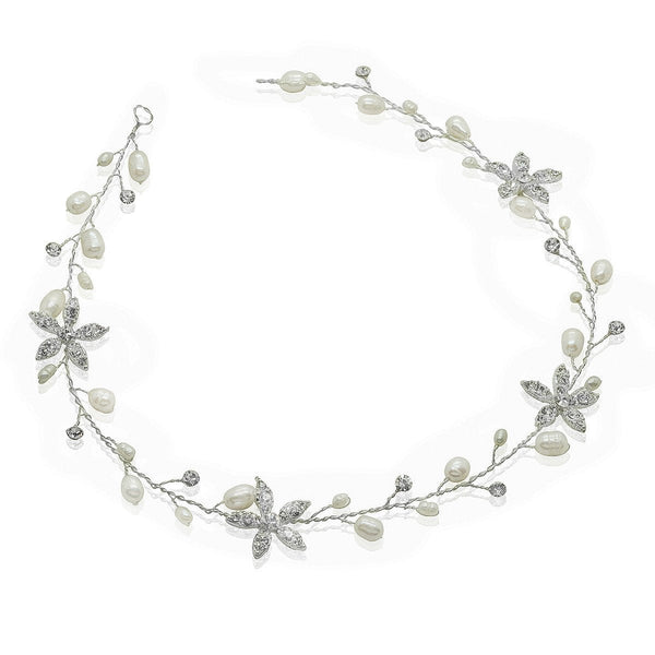 Crystal Flower Hair Vine-Starlet Jewellery