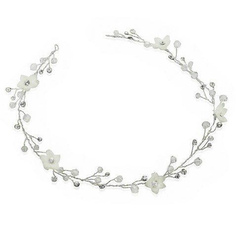 Delicate Flower Hair Vine-Starlet Jewellery