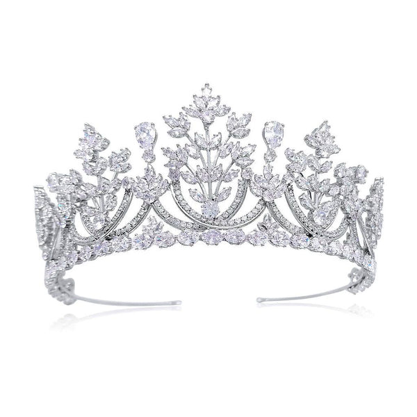 Diana Luxury Platinum Plated Tiara - Olivier Laudus Wedding Jewellery