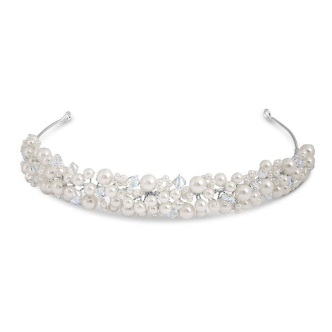 Diana Pearl and Crystal Headband-Starlet Jewellery