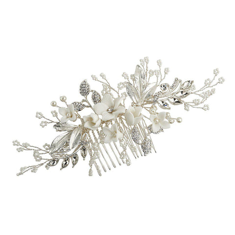 Divine Pearl Hair Comb (medium)-Starlet Jewellery