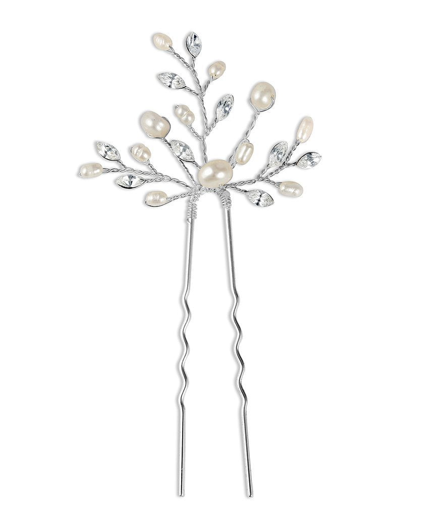 Elizabeth Freshwater Pearls Hair Pins - Set of 3-Starlet Jewellery