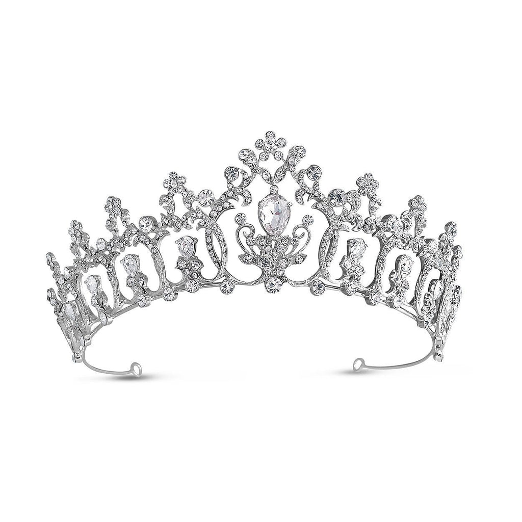 Eternity Diamante Regal Style Tiara-Starlet Jewellery