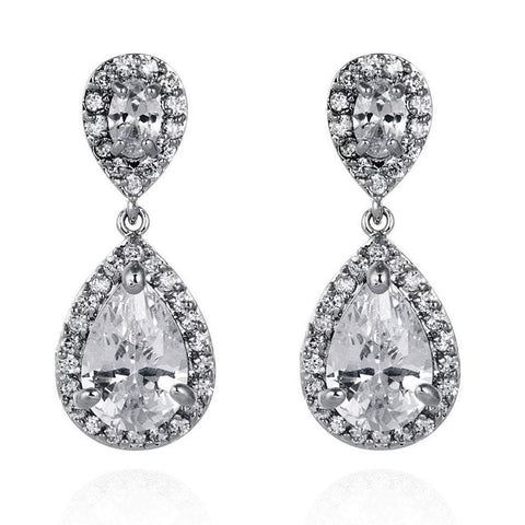 Amalia Cubic Zirconia Earrings-Earrings-Starlet Jewellery