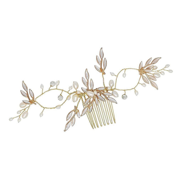 Firenza Freshwater Pearl Hair Comb-Starlet Jewellery