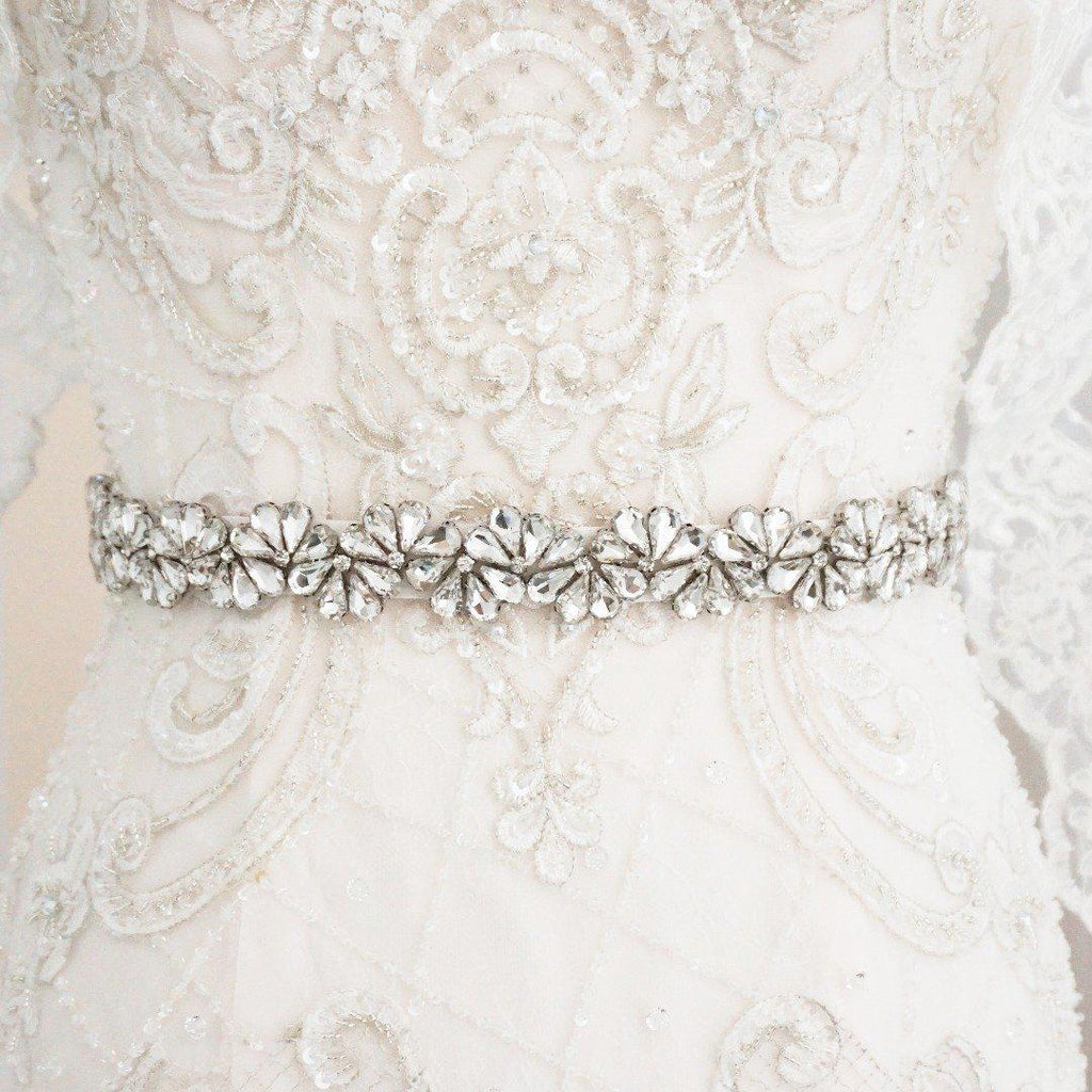 Flora Diamante Wedding Belt-Starlet Jewellery