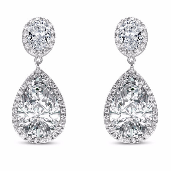 Verona Simulated Diamond Silver Earrings-Starlet Jewellery