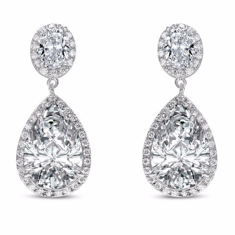 Verona Simulated Diamond Silver Earrings