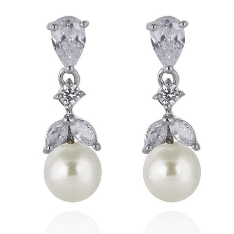 Elie Pearl Earrings-Earrings-Starlet Jewellery
