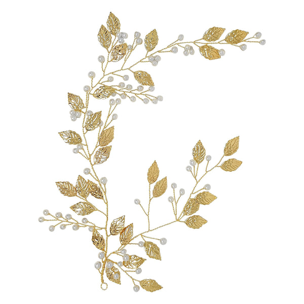 Gold Leaf Hairvine-Starlet Jewellery