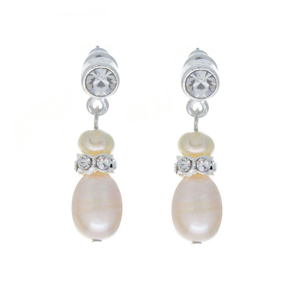 Grace Freshwater pearl and Cubic Zirconia  Earrings