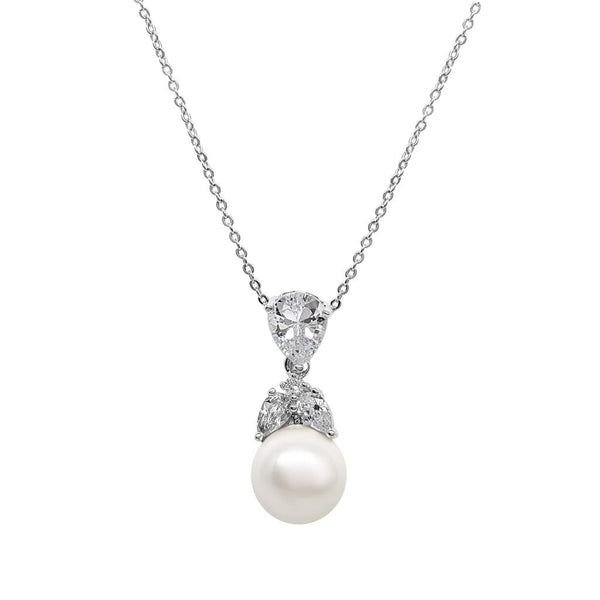 Grace pearl & Simulated Diamond Pendant