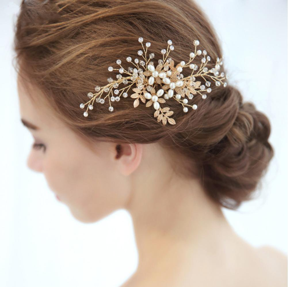Hazel Gold Hair Comb