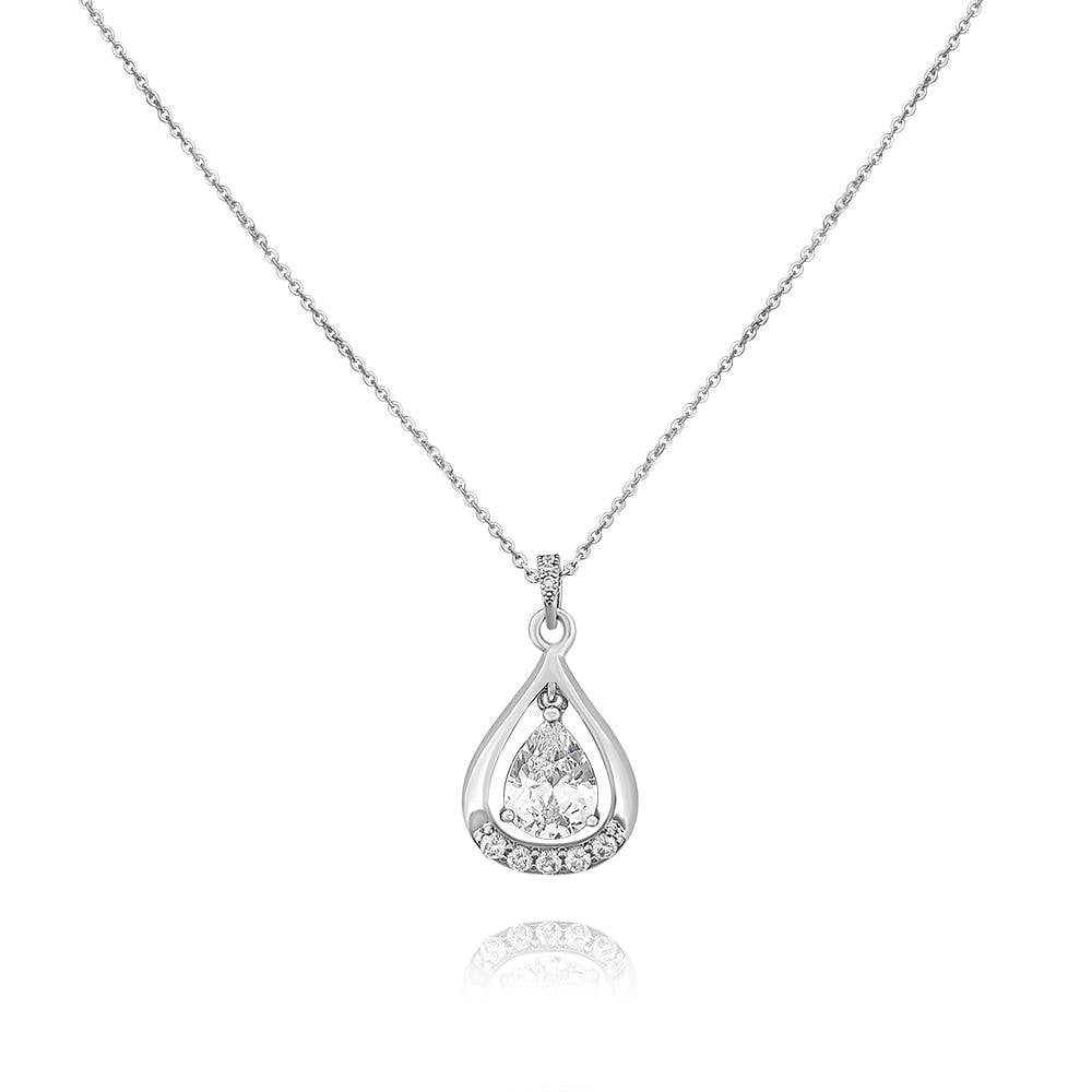 Helena Simulated Diamond Pendant-Starlet Jewellery
