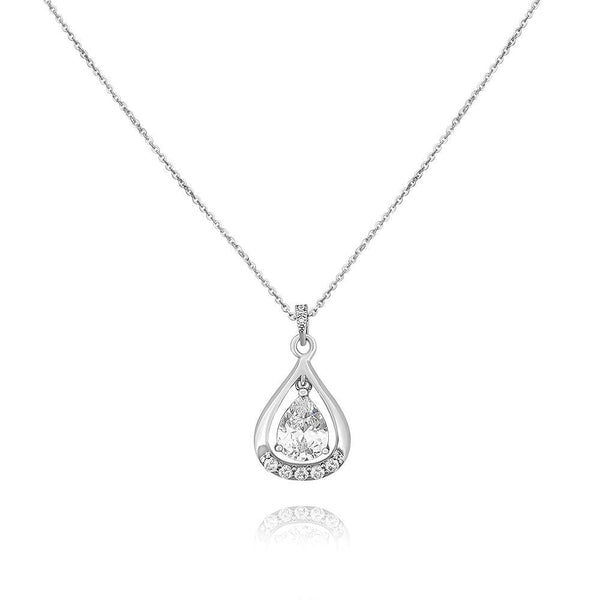 Helena Simulated Diamond Pendant