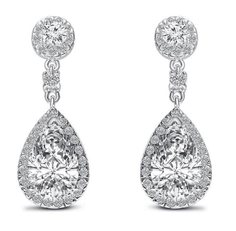 Mayfair Cubic Zirconia Earrings-Earrings-Starlet Jewellery