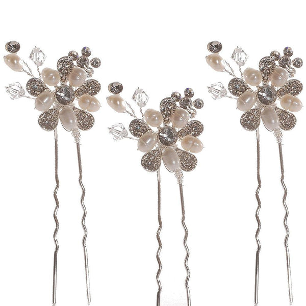 Bouquet Hair Pins set of 3