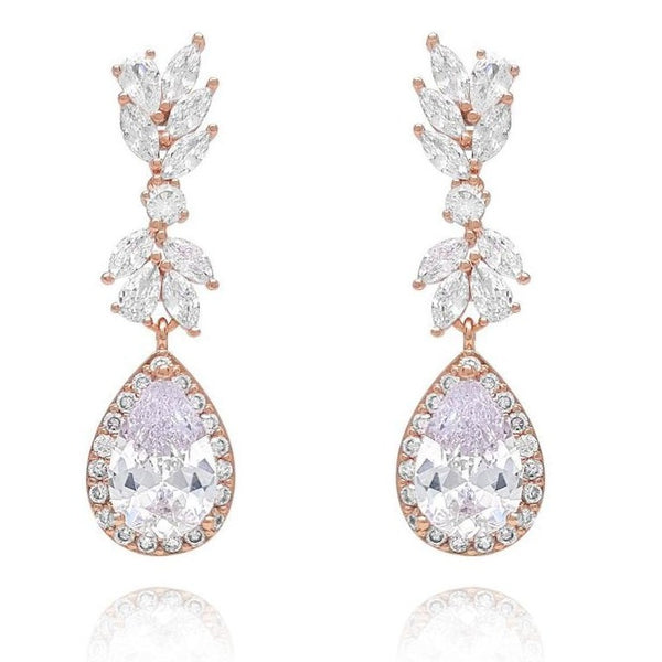 Lily Rose Gold Cubic Zirconia Earrings