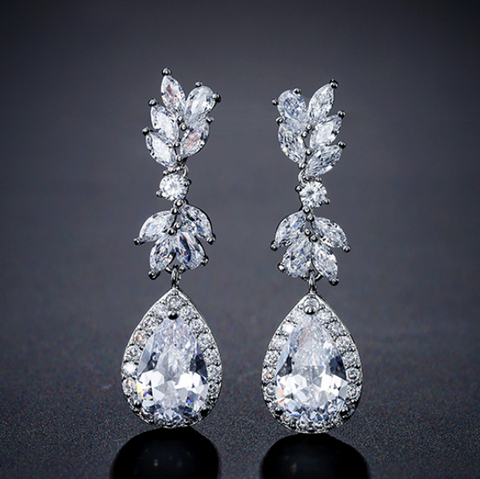 Lily Cubic Zirconia Earrings *version 2*