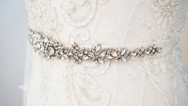 Liv Pearl and Diamante Wedding Belt