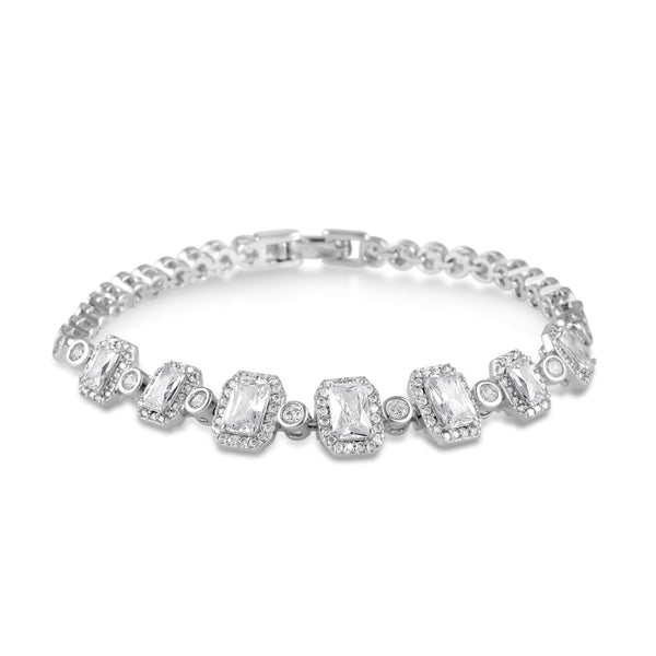 London Simulated Diamond Bracelet-Bracelets-Starlet Jewellery