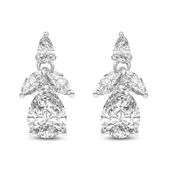 Lucia Simulated Diamond Earrings